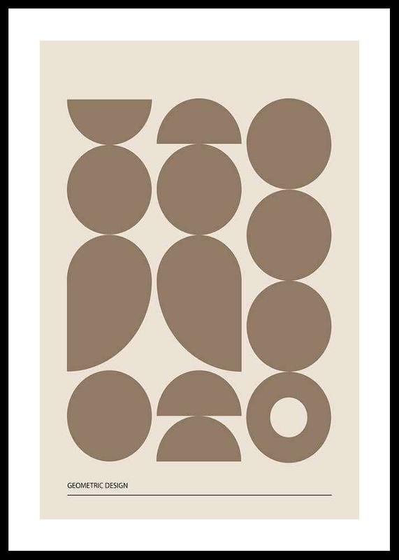 Geometric Graphic Beige No1