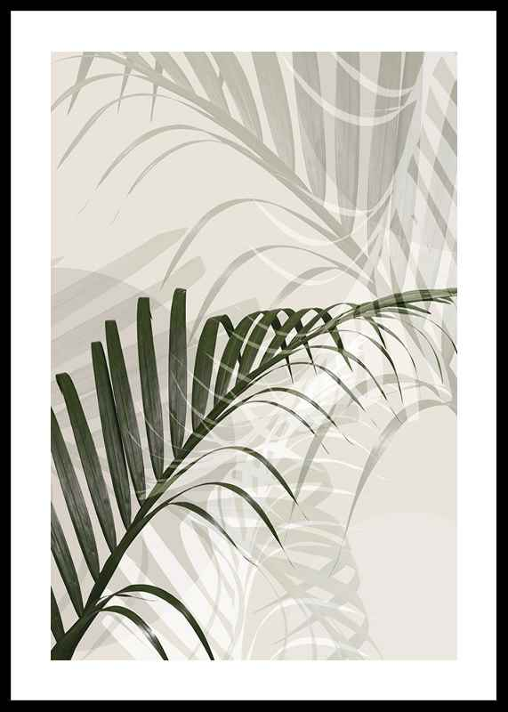 Abstract Palm Leaves No2