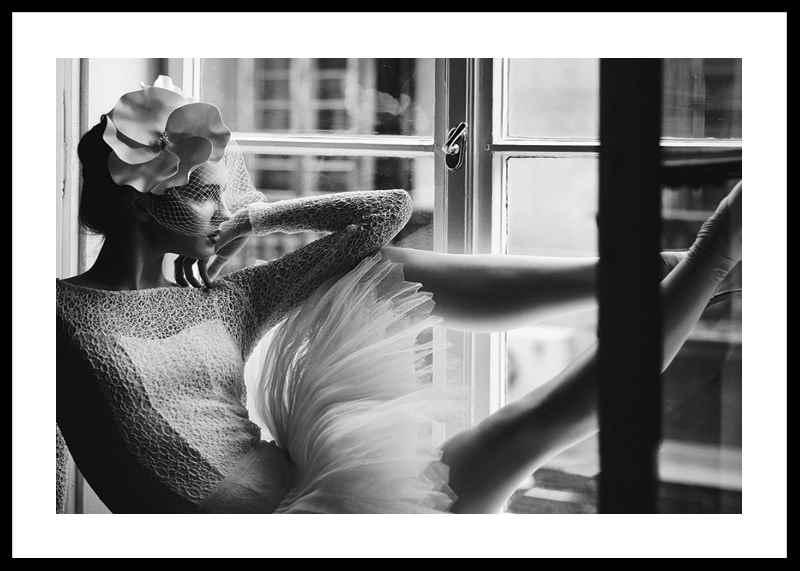 Woman In Window BW-0