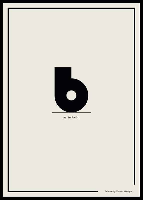 B As In Bold