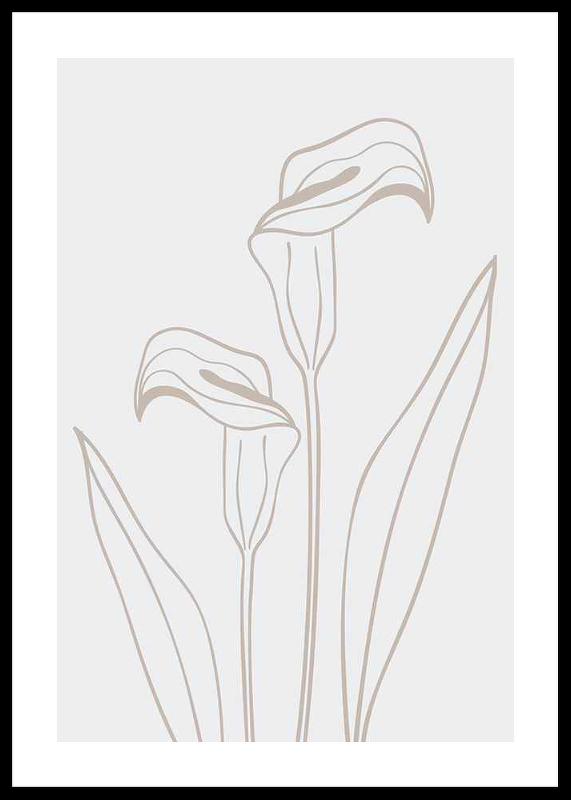 Line Art Flower No3