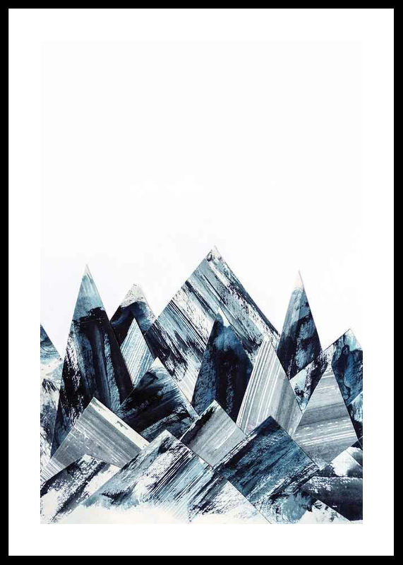 Abstract Paper Mountains
