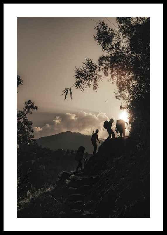 Hikers Climbing-0