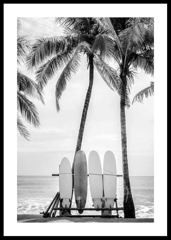 Surfing Boards On Beach-0