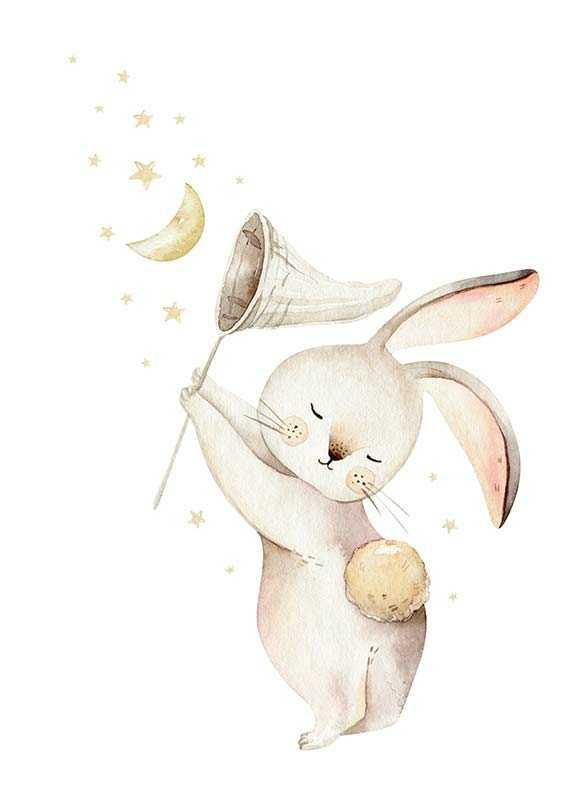Bunny Catching Stars-1