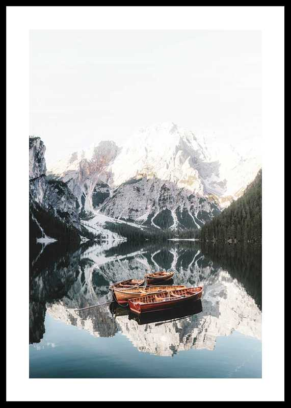Rowing Boats In Lake Braies-0