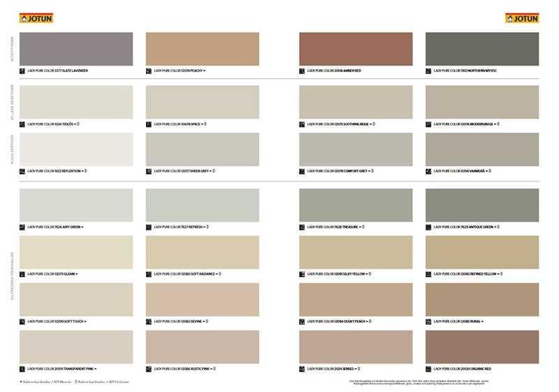 Jotun Color Chart 2021